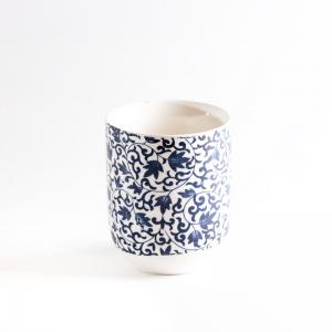 Чашка с узором синяя 150мл