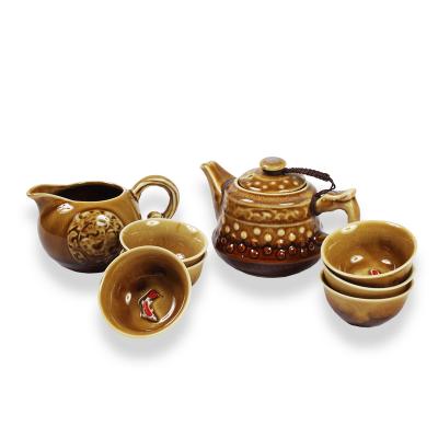 Керамический набор, коричневый