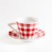 Керамический кофейный набор. Красный