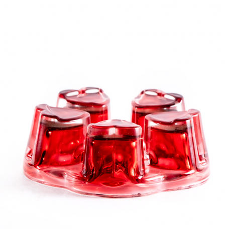 Стеклянная подставка, красная