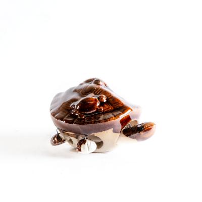 Керамическая черепашка, коричневая