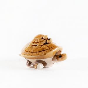 Керамическая черепашка, бежевая