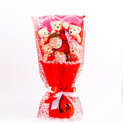 Подарок Букет с игрушкой №20 Красный