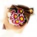 Подарок Букет с чаем и живыми цветами №96