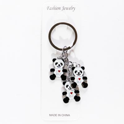 "Металлический брелок три панды ""Я люблю Пекин"""