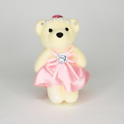 Медведь твердый розовый