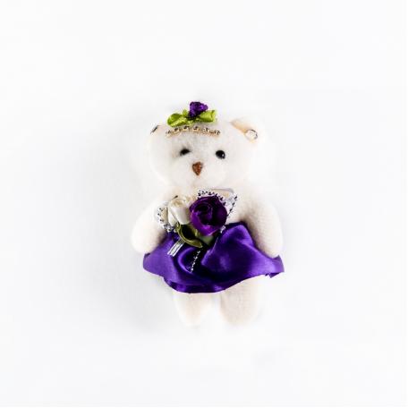 Медведь мягкий фиолетовый